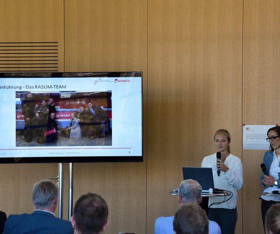 Die Vorstellung des RASUM-Teams beim 2. RASUM-Symposium 2016